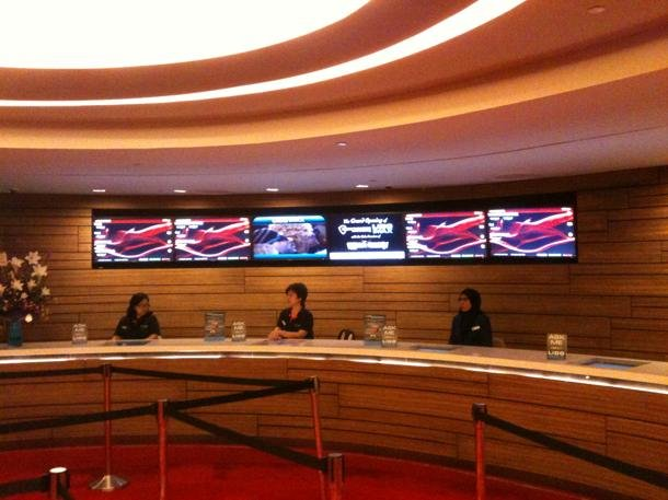 "Lido's swanky new ticket lobby is a far cry from its previous 1970s ""booth counters"". (Yahoo! photo)"