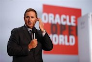 Oracle President Mark Hurd delivers a keynote during Oracle OpenWorld 2012 in San Francisco, California October 1, 2012. REUTERS/Stephen Lam