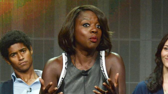 "Viola Davis speaks during the ""How to Get Away with Murder"" panel at the Disney/ABC Television Group 2014 Summer TCA at the Beverly Hilton Hotel on Tuesday, July 15, 2014, in Beverly Hills, Calif. (Photo by Richard Shotwell/Invision/AP)"