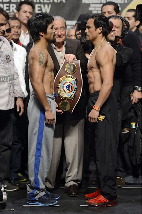 Manny Pacquiao v Manuel Marquez - Weigh In