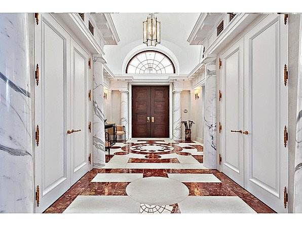 One tycoon is selling two of America's priciest mansions bradbury hallway