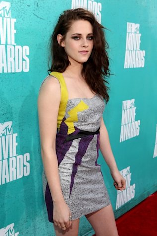 Kristen Stewart steps out at the 2012 MTV Movie Awards held at Gibson Amphitheater in Universal City, Calif. on June 3, 2012 -- Getty Images