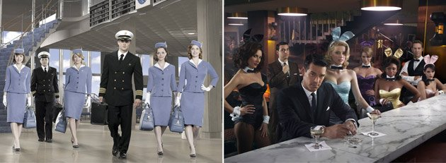 The casts of &amp;#34;Pan Am&amp;#34; and &amp;#34;The Playboy Club&amp;#34; (Bob D'Amico/ABC, John Russo/NBC)
