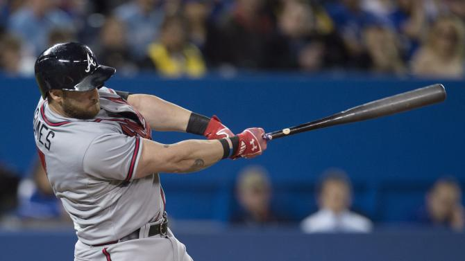 Gomes has 4 RBIs, Braves beat Blue Jays 5-2
