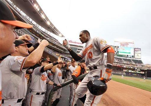 Jones homers to back Hunter, Orioles top Twins 2-1