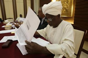 Members of the Sudan's National Electoral Commission…