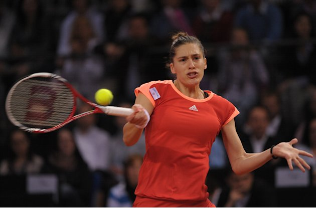 Germany's Andrea Petkovic Returns AFP/Getty Images