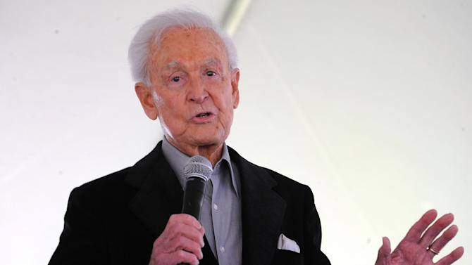 "FILE - This April 25, 2009 file photo shows Bob Barker attending The Los Angeles Times Festival of Books at The University of California Los Angeles, in Los Angeles, Calif. Barker, former host of ""The Price is Right,"" will celebrate his 90th birthday with an appearance on the game show Dec. 12, 2013. (AP Photo/Katy Winn, File)"