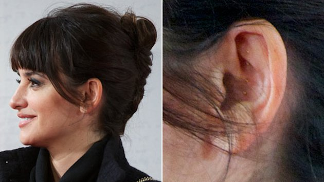 Why Are Penelope Cruz's Ears Studded? (ABC News)