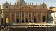 St. Peter's square gets ready for the canonization of Quebec's Kateri Tekakwitha on Sunday.