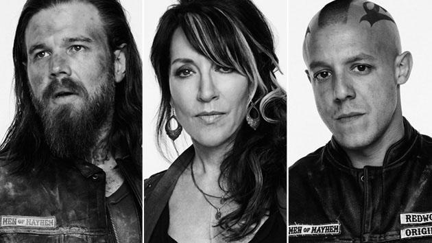 """Sons of Anarchy"" - Ryan Hurst, Katey Sagal and Theo Rossi"