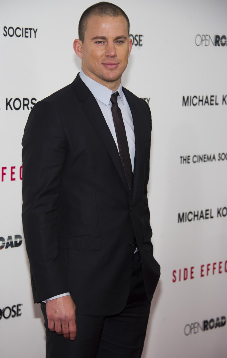 "Channing Tatum attends the premiere of ""Side Effects"" hosted by the Cinema Society and Open Road Films on Thursday, Jan. 31, 2013 in New York. (Photo by Charles Sykes/Invision/AP)"