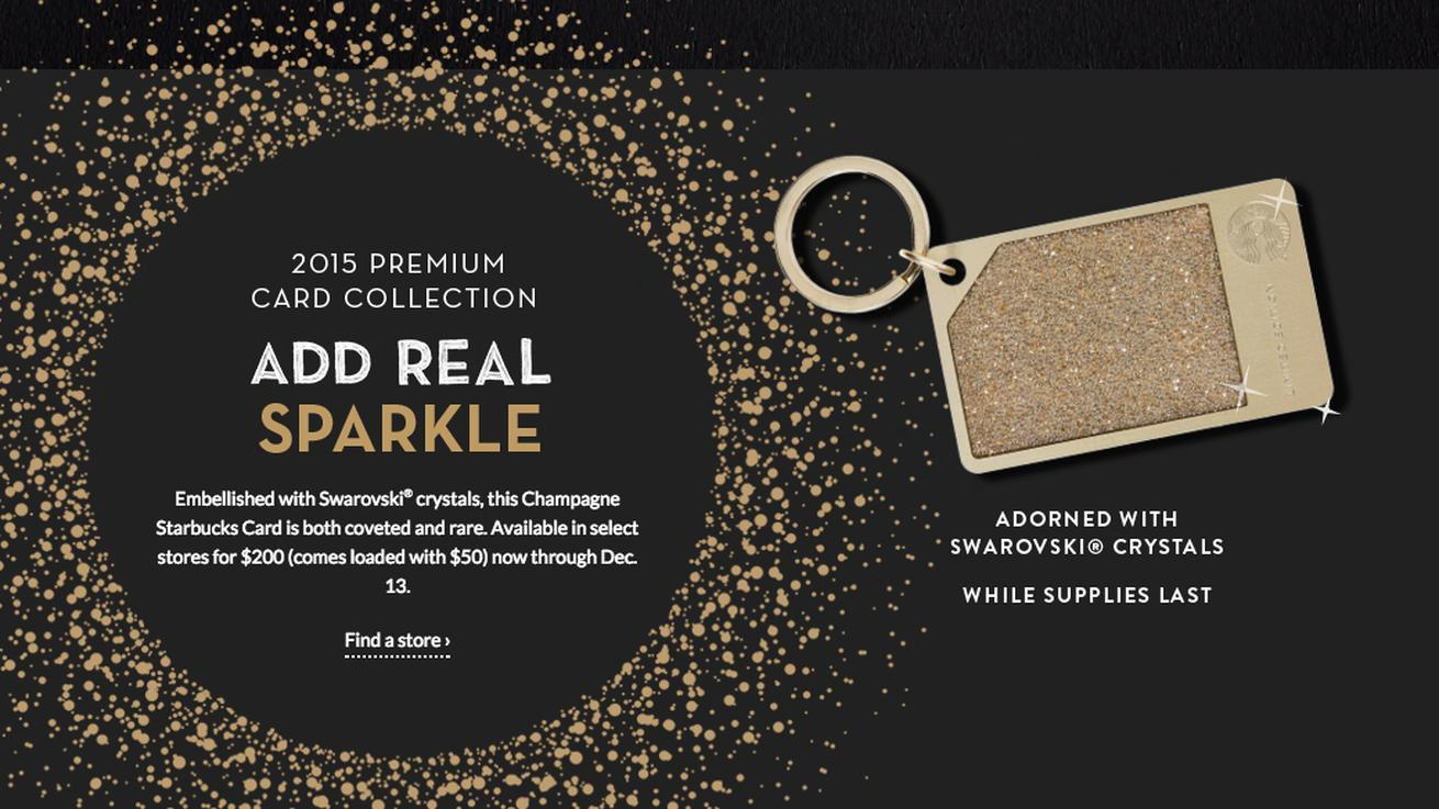 Starbucks' $200 Crystal-Encrusted Gift Cards Are Already Sold Out, Naturally