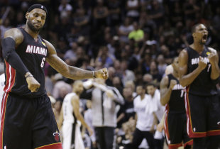 James' pass to Chris Bosh led to the decisive 3-pointer with 1:18 left. (AP)