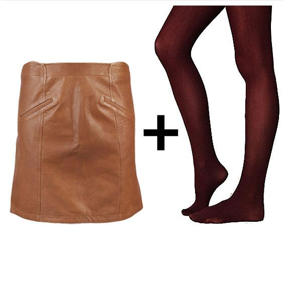 Brown Leather + Burgundy