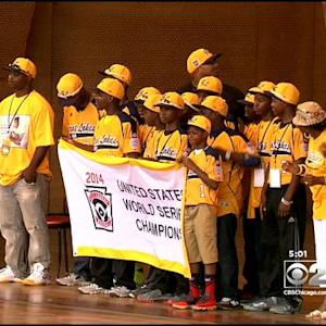 Thousands Celebrate Jackie Robinson West At Parade, Rally