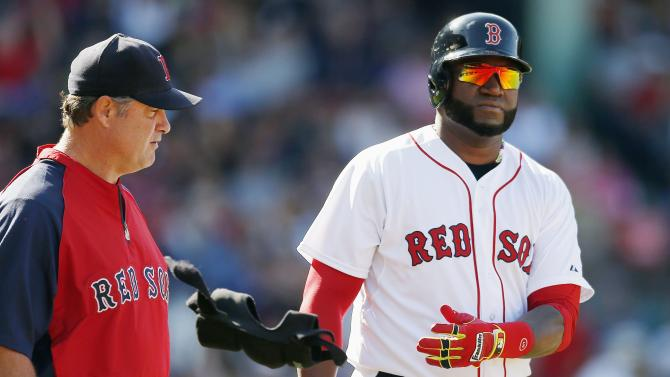 Red Sox star Ortiz sits out with bruised foot
