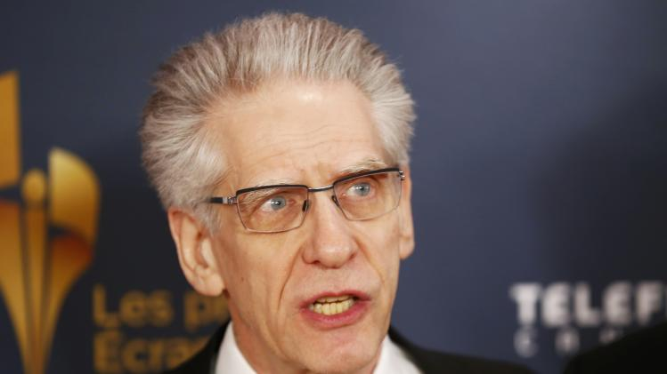 Director David Cronenberg arrives on the red carpet at the 2014 Canadian Screen awards in Toronto