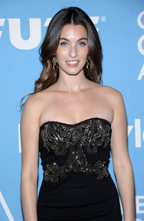 "Miss Golden Globe 2012, Rainey Qualley, attends ""A Night of Firsts"" Golden Globe award season kick off party held in West Hollywood, Calif. on Thursday, Dec. 8, 2011. (AP Photo/Phil McCarten)"
