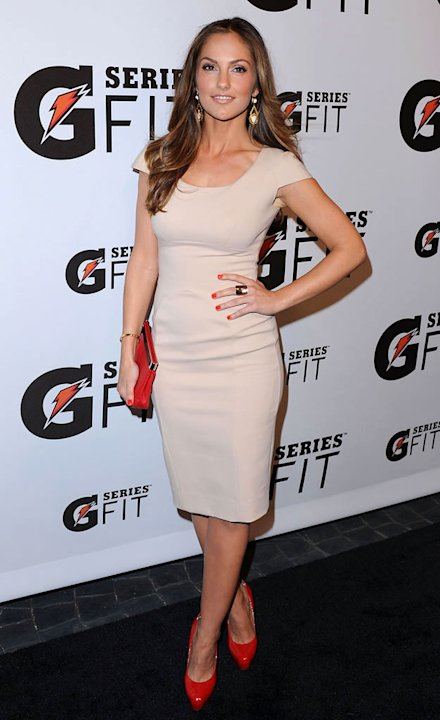 Minka Kelly arrives at the Gatorade's New &quot;G Series Fit&quot; Launch Party at SLS Hotel on April 12, 2011 in Beverly Hills, California. 