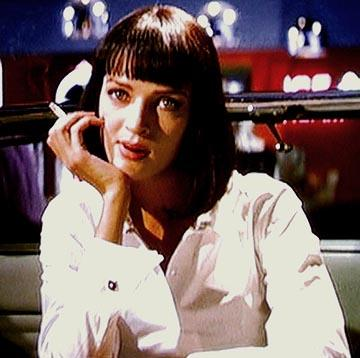 Uma Thurman as Mia Wallace in Miramax's Pulp Fiction