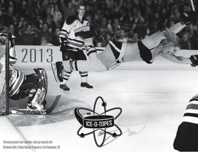 Ice-O-Topes Women's Team Recreates Classic Photos In 2013 Pin-up Calendar