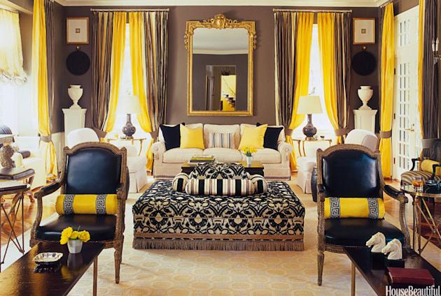 Black-and-Yellow Living Room