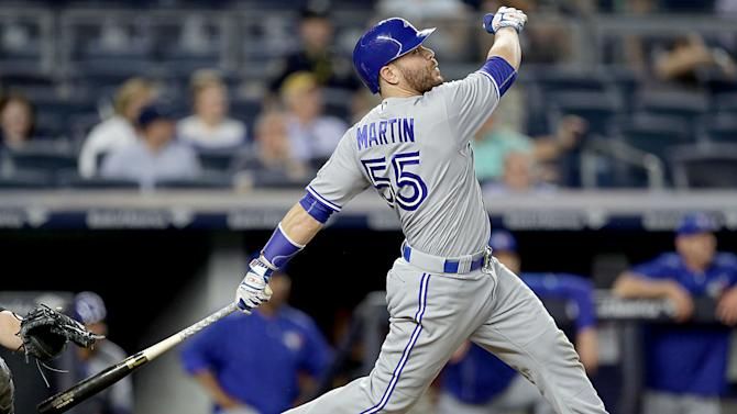 Russell Martin ends homerless drought as Blue Jays blast Yankees