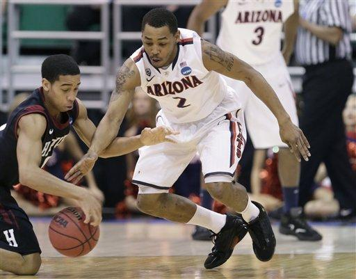 Arizona sends Harvard home with a thump, 74-51