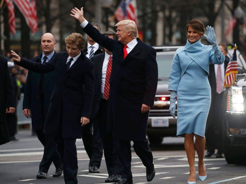 Donald Trump Treats Trump International Hotel Guests To First Look At First Family Walking Inaugural Parade Route