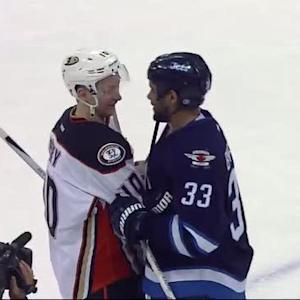 Jets and Ducks handshake