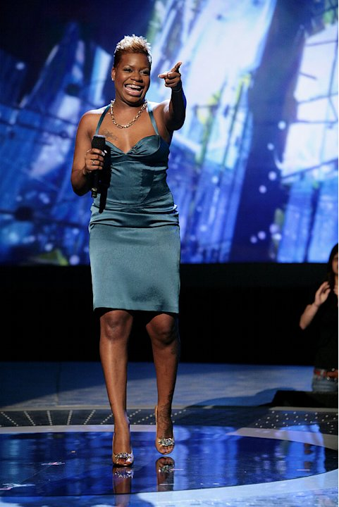 Fantasia Barrino performs on Season 6 of American Idol.