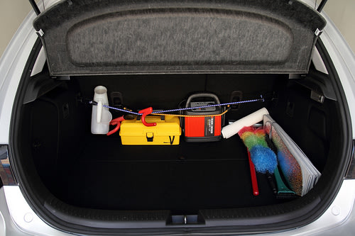 Empty the trunk to reduce drag on the vehicle.