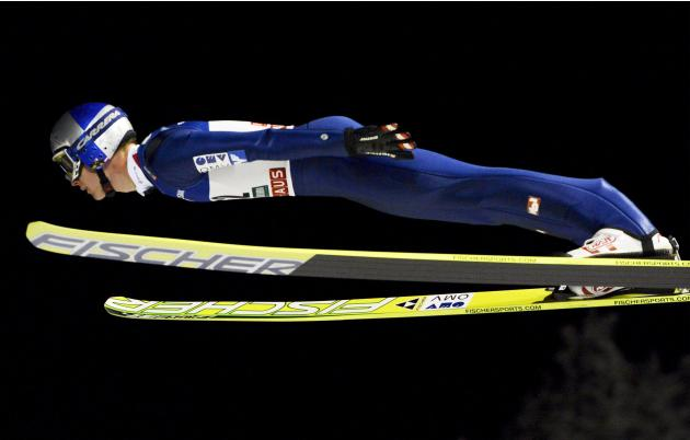 Third placed Morgenstern of Austria competes during the men's Ski Jumping HS 142 Large Hill Individual competition at the FIS World Cup Ruka Nordic Opening in Kuusamo