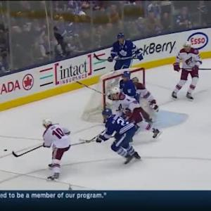Mike Smith Save on Tyler Bozak (18:28/1st)
