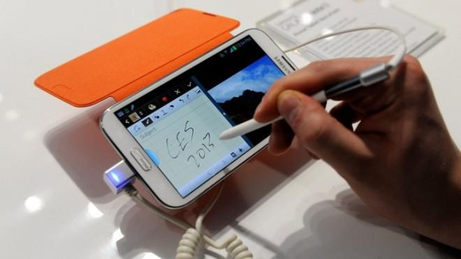 The Samsung Galaxy Note II: One of many popular Android devices from the South Korean tech company.