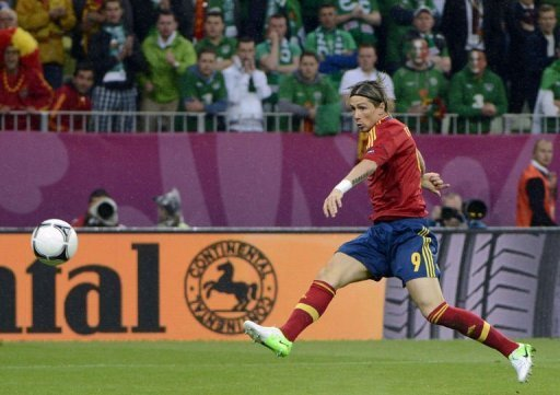 Spanish forward Fernando Torres …