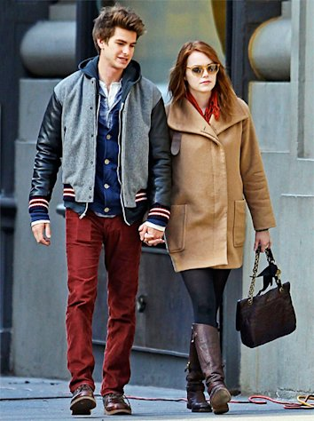 PIC: Emma Stone and Andrew Garfield Hold Hands in New York City