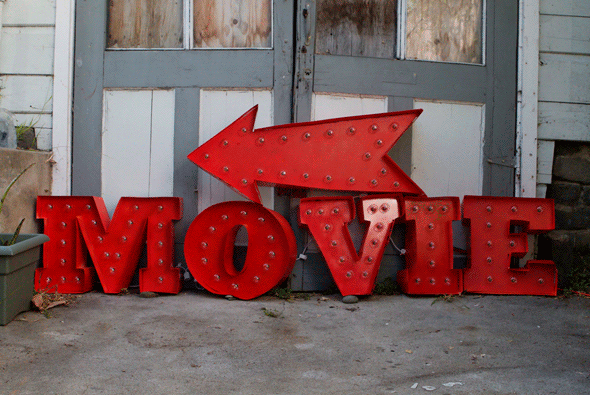 DIY Movie Marquee