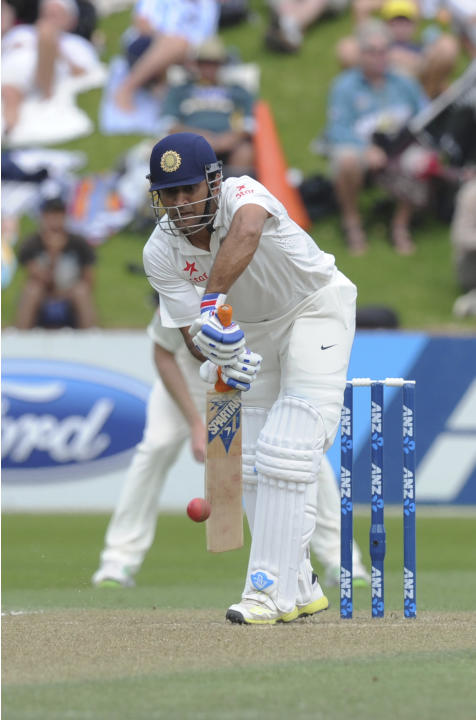 India   s MS Dhoni batting against New Zealand on the second day of    Ms Dhoni Batting