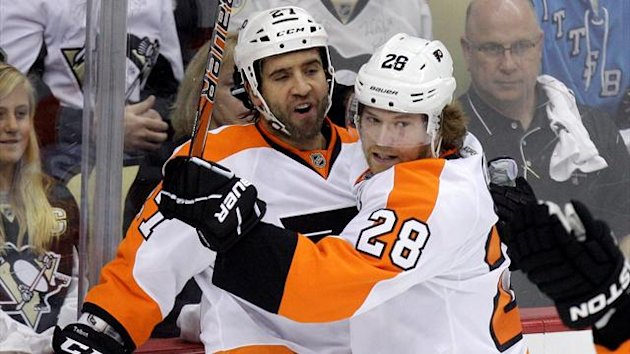 Philadelphia Flyers Claude Giroux Maxime Talbot