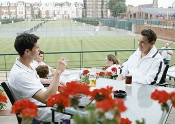 Matthew Goode and Jonathan Rhys-Meyers in DreamWorks Pictures' Match Point