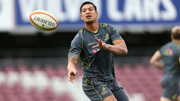 Ewen McKenzie believes that with talent like Israel Folau, pictured, it will not take long for Australia to click