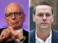 Rupert Murdoch, Chairman of News Corporation (L), pictured in June 2011, and his son James Murdoch, seen in July 2011. James Murdoch, the former News International executive chairman, is giving testimony under oath at the British inquiry into press standards set up after the tabloid phone-hacking row