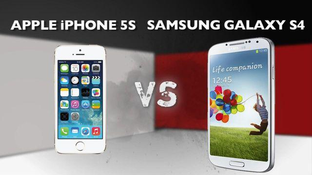 Apple iPhone 5S vs. Samsung Galaxy S4
