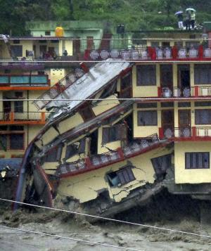 Floods kill 23 in northern India; dozens missing