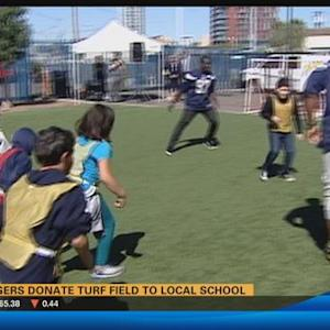 Chargers donate turf field to local school