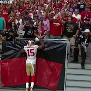 San Francisco 49ers wide receiver Michael Crabtree 2-yard touchdown reception