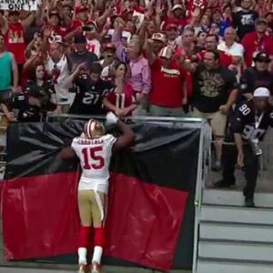 San Francisco 49ers wide receiver Michael Crabtree 2-yard touchdown reception