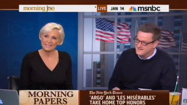 Joe Scarborough Says He's Sorry to Mika Brzezinski for Cutting Her Off Every Day